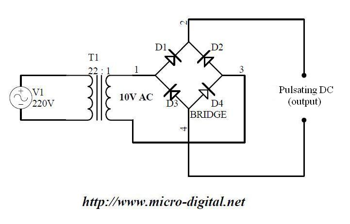 Wiring Diagram Bridge Rectifier : Circuit diagram of full wave bridge rectifier readingrat