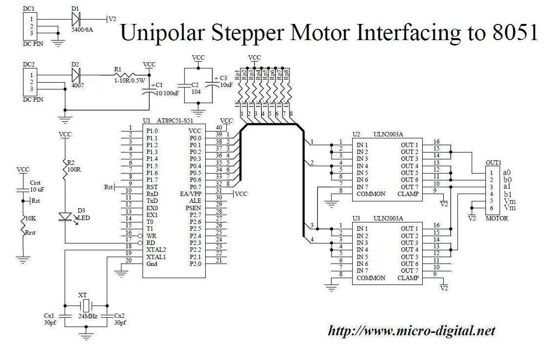 unipolar stepper motor driver circuit diagram circuit 555 Timer Circuits Projects 555 timer stepper motor driver