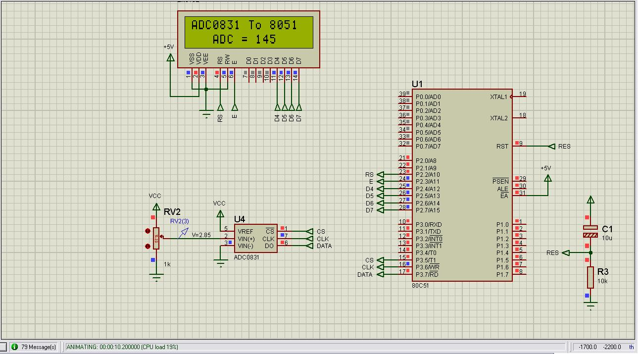 How To Interface Serial Adc0831 With 8051 Microcontroller